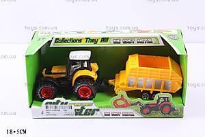 Металлический трактор, с прицепом, 152