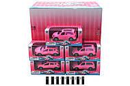 Металлическая машинка для девочки, розовая, XY103