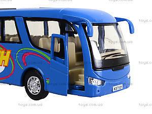 Металлическая модель автобуса «Туристический», KS7101W, фото