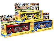 Металлическая модель автобуса «Туристический», KS7101W, купить