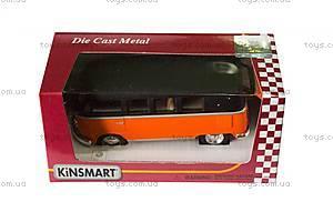 Металлическая модель Volkswagen Classical Bus, KT5060WM, іграшки