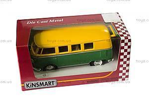 Металлическая модель Volkswagen Classical Bus, KT5060WM, детский