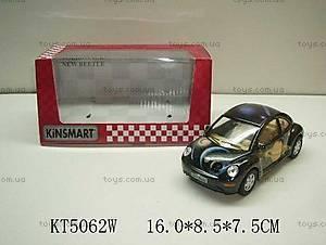 Металлическая инерционная машина «Volkswagen New Beetle», KT5062W