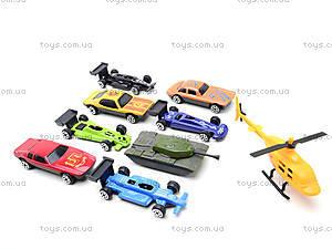 Металлические машинки, 10 штук, 92753-10S, детские игрушки