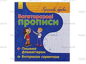 Многоразовые прописи Fine Art «Красивые буквы», С422032У, магазин игрушек