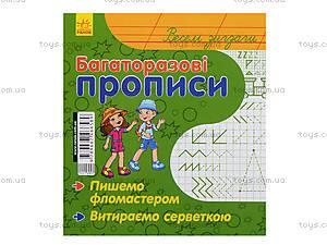 Многоразовые прописи «Веселые зигзаги», С422040У, магазин игрушек