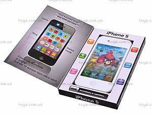 Мобильный музыкальный телефон iPhone 5, 003-2, детские игрушки