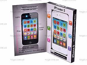 Мобильный телефон iPhone 5 музыкальный, 003-1, игрушки
