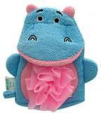 Мочалка-перчатка детская «Бегемотик»  Baby Team, 7408-1, фото