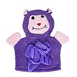Мочалка-рукавичка фиолетовая, №0911, детские игрушки