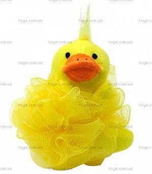 Мочалка-зверек желтая Baby Team, 7406-1
