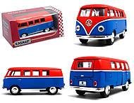 Металлическая модель Volkswagen Classical Bus, KT5060WM, купить