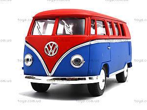Металлическая модель Volkswagen Classical Bus, KT5060WM, игрушки