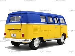Металлическая модель Volkswagen Classical Bus, KT5060WM, детские игрушки