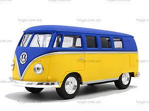 Металлическая модель Volkswagen Classical Bus, KT5060WM, магазин игрушек