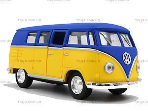 Металлическая модель Volkswagen Classical Bus, KT5060WM, toys