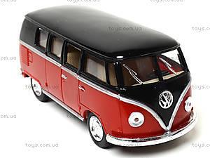 Игрушечный автобус Volkswagen Classical Bus Black Top, KT5376W, игрушки