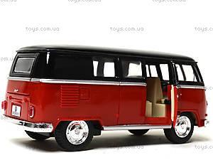 Игрушечный автобус Volkswagen Classical Bus Black Top, KT5376W, детские игрушки