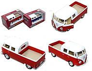 Металлический автобус Volkswagen Bus Double-Cab (1963), KT5387W, фото