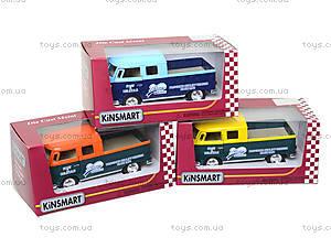 Металлический автобус Volkswagen Bus Delivery (1963), KT5396W, игрушки