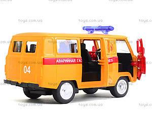 Модель автобуса «Аварийная служба», 6402D, детские игрушки