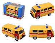 Детский инерционный автобус МЧС, 6402F