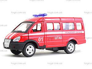 Модель пожарного автобуса «Автопарк», 6404E, детские игрушки