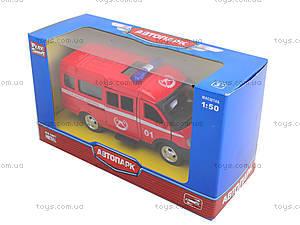 Модель пожарного автобуса «Автопарк», 6404E, toys.com.ua