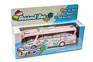 Модель автобуса розового цвета, KT7103W