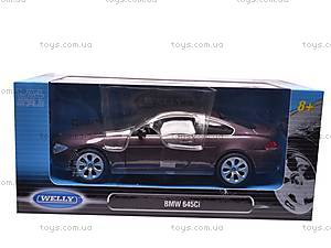 Модель BMW 645Ci, масштаб 1:24, 22457W, игрушки