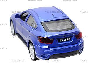 Металлическая машина BMW X6 «Автодром», 6435, детские игрушки