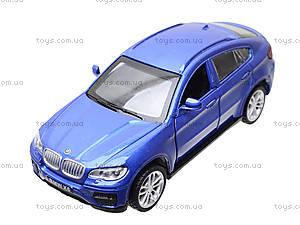 Металлическая машина BMW X6 «Автодром», 6435, магазин игрушек