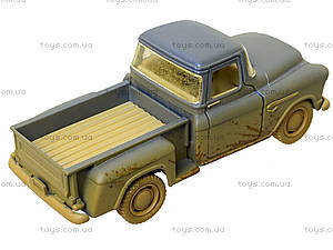 Металлический джип Chevy Stepside Pick-Up 1955 (Muddy), KT5330WY, игрушки