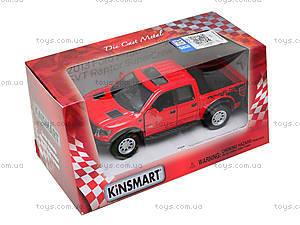 Металлическая модель джипа Ford F-150 SVT Raptor Supercrew, KT5365W, игрушки