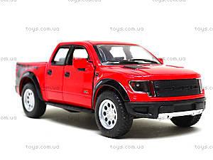 Металлическая модель джипа Ford F-150 SVT Raptor Supercrew, KT5365W, детские игрушки