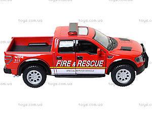 Коллекционная модель Ford F-150 SVT Police/Fire, KT5365WPR, игрушки