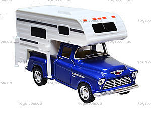 Металлическая модель Chevy Stepside PICK-UP Truck Camper, KT5505W, фото