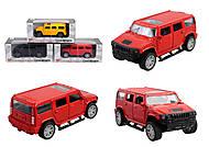 """Модель джипа """"Хаммер"""" металлическая, инерционная, 3 цвета, MQ303-11, купить"""