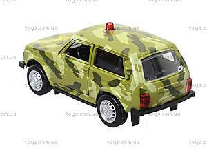 Инерционная модель военного джипа «Автопарк», 6400C, фото