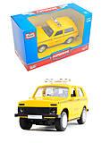 Игрушечная модель такси «Автопарк», 6400D, фото