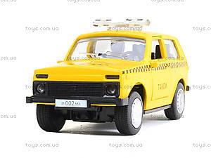 Игрушечная модель такси «Автопарк», 6400D, игрушки