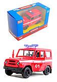 Игрушечный джип «Пожарка», 6401D, игрушки