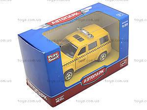 Игрушечный джип «Автопарк Такси», 6403B, фото