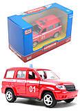 Пожарная машинка металлическая «Автопарк», 6403F, игрушка