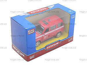 Пожарная машинка металлическая «Автопарк», 6403F, фото