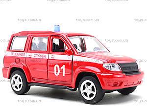Пожарная машинка металлическая «Автопарк», 6403F, отзывы