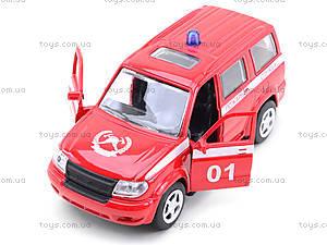 Пожарная машинка металлическая «Автопарк», 6403F, цена
