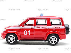 Пожарная машинка металлическая «Автопарк», 6403F, игрушки