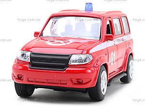 Пожарная машинка металлическая «Автопарк», 6403F, детские игрушки