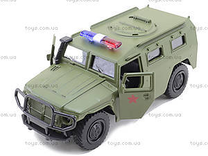 Военная модель джипа «Автопарк», 6408C, игрушки